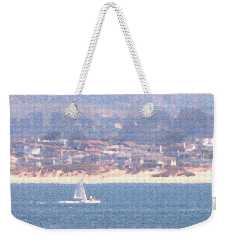 Sailing Weekender Tote Bag featuring the photograph Pastel Sail by Pharris Art