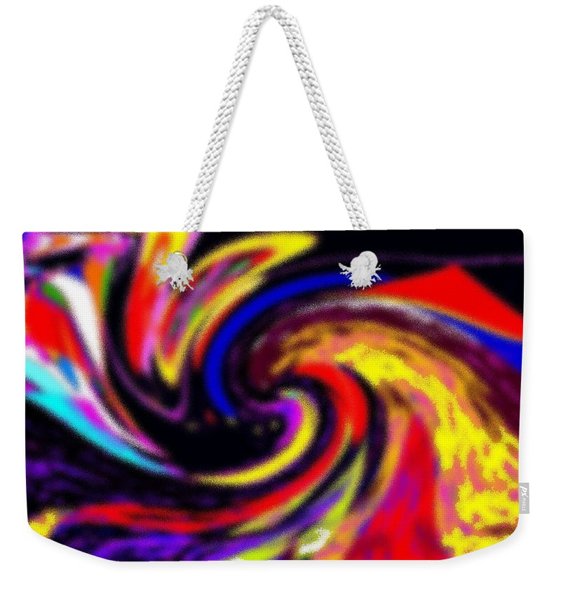 Abstract Weekender Tote Bag featuring the digital art Pastel Voyager by Ian MacDonald