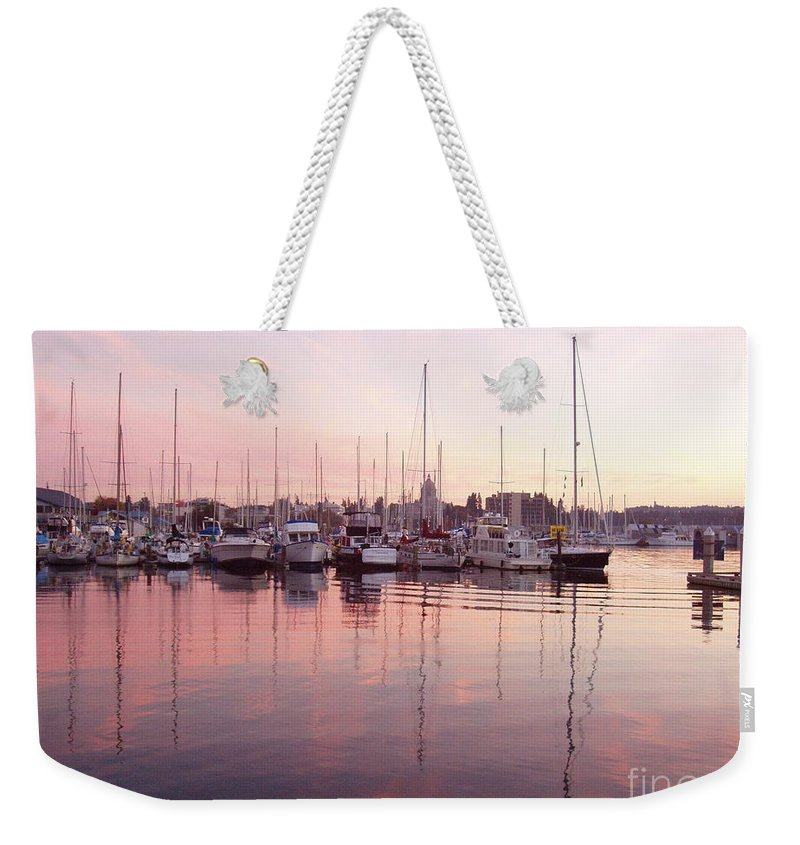 Pastel Weekender Tote Bag featuring the photograph Pastel Waters by Deborah Crew-Johnson