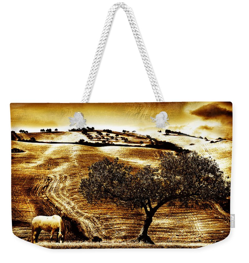 Landscape Weekender Tote Bag featuring the photograph Pastelero Textures by Mal Bray