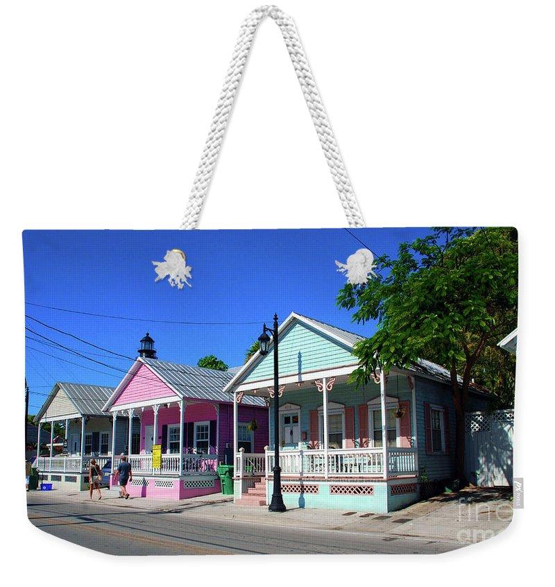 Key West Weekender Tote Bag featuring the photograph Pastels Of Key West by Susanne Van Hulst