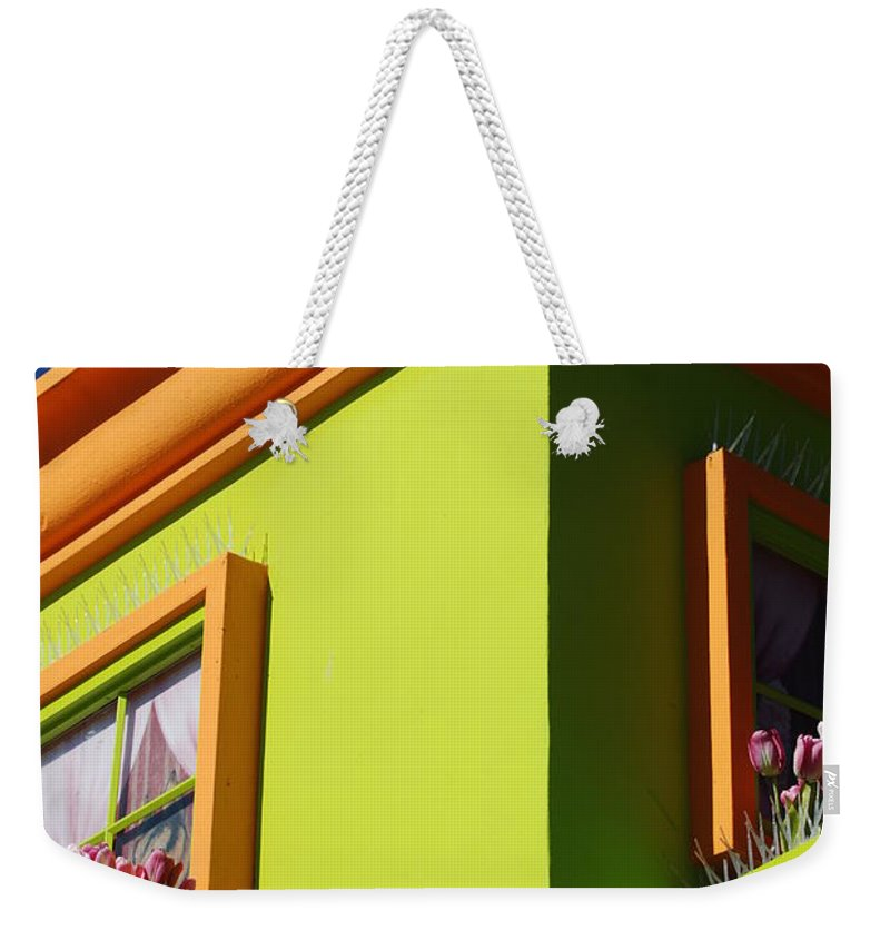 Sky Weekender Tote Bag featuring the photograph Pastle Corners by Rob Hans
