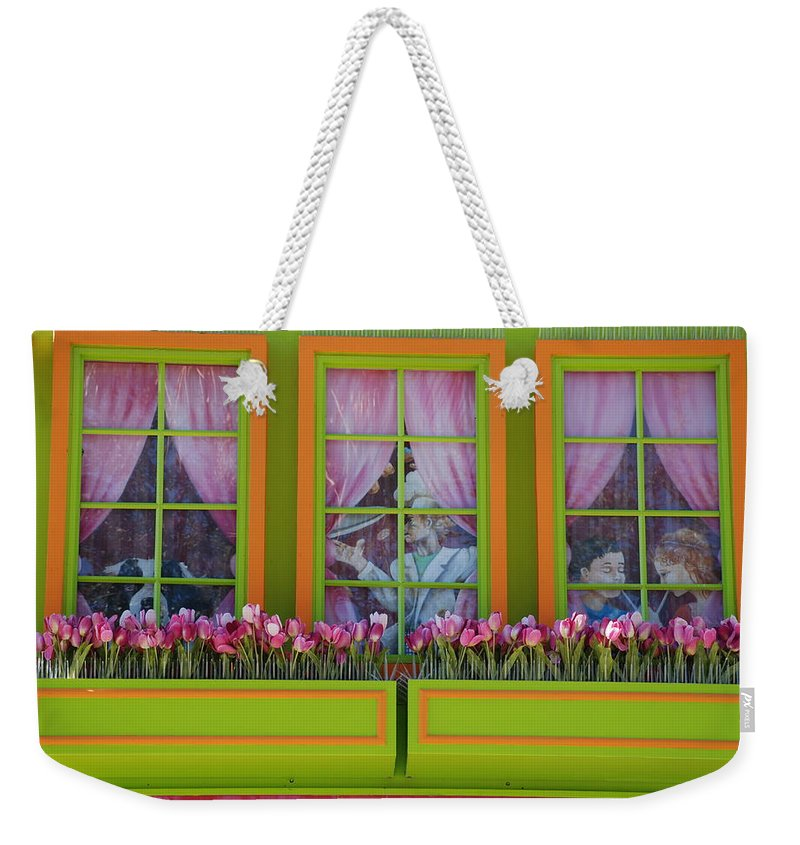 Architecture Weekender Tote Bag featuring the photograph Pastle Windows by Rob Hans
