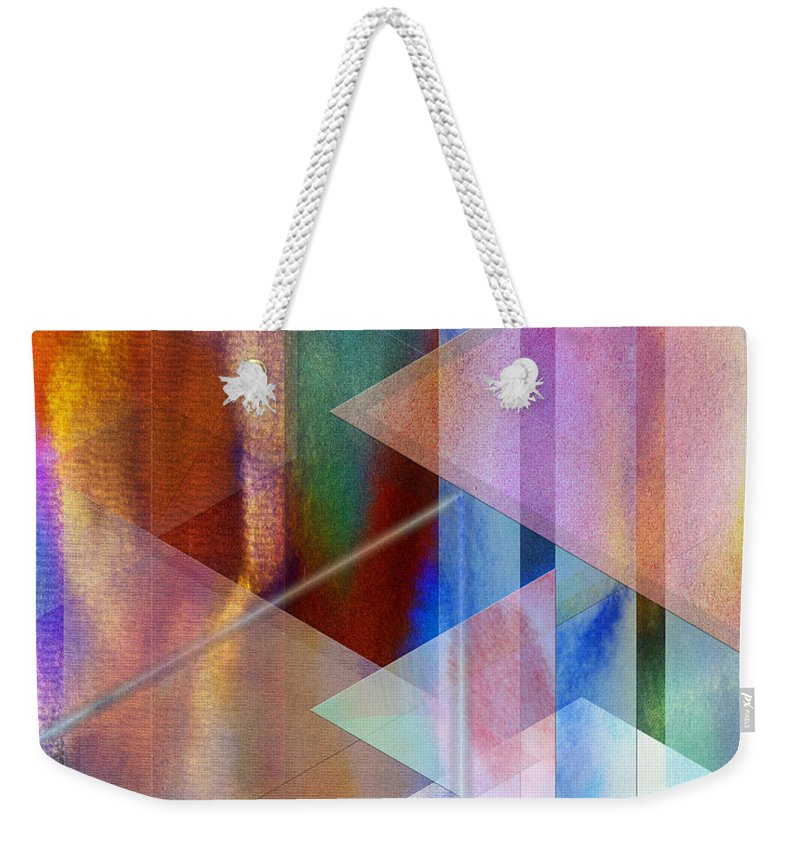 Pastoral Midnight Weekender Tote Bag featuring the digital art Pastoral Midnight by John Beck