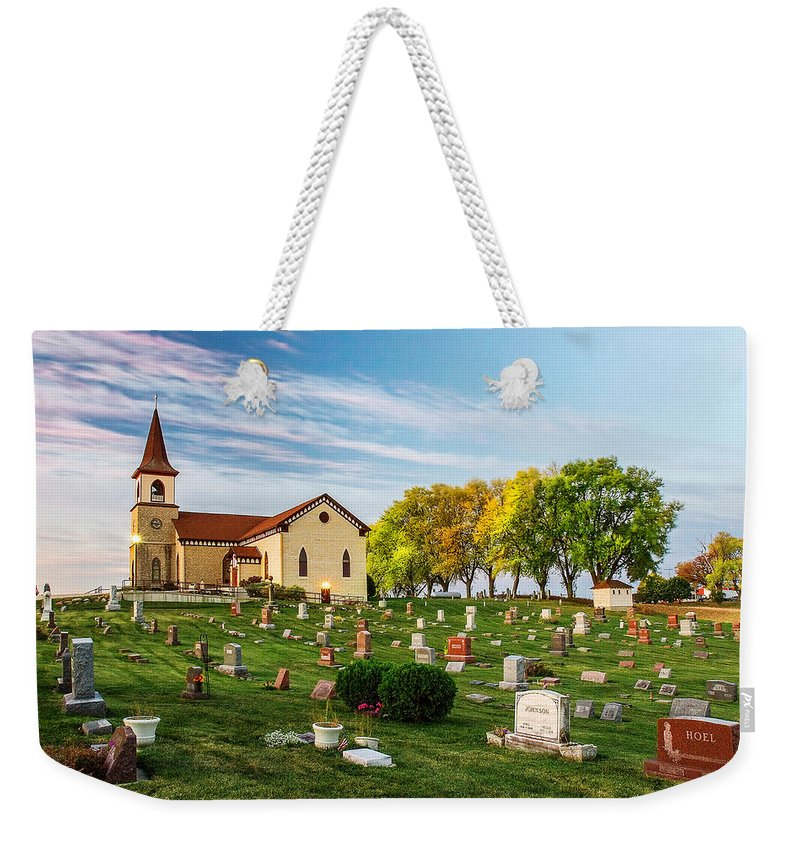 Church Weekender Tote Bag featuring the photograph Pastoral Morn by Todd Klassy