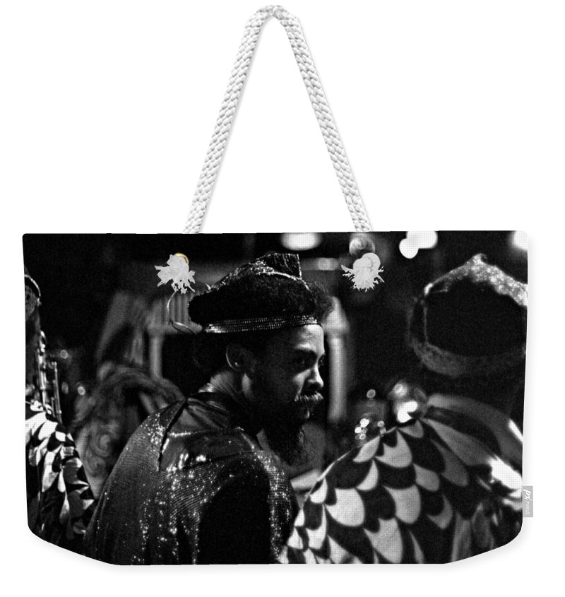 Sun Ra Arkestra Weekender Tote Bag featuring the photograph Pat Patrick by Lee Santa