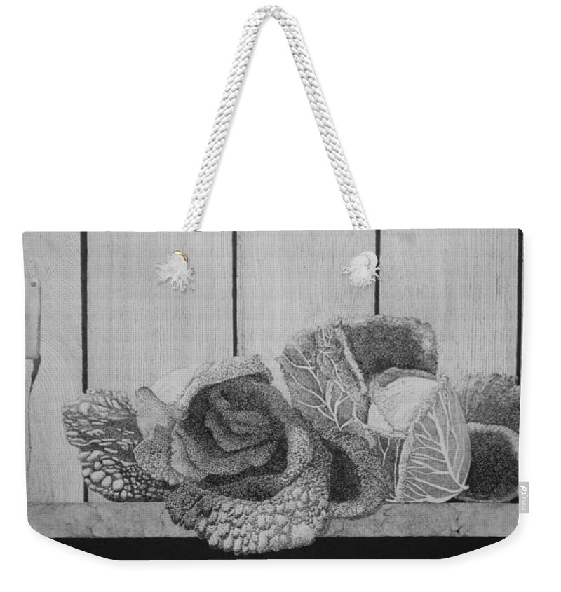 Still Life Weekender Tote Bag featuring the painting Patch Work by A Robert Malcom