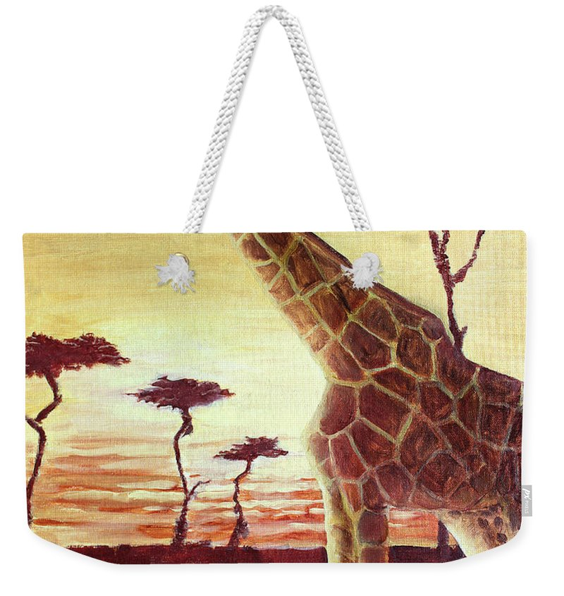 Animal Weekender Tote Bag featuring the painting Patches by Todd Blanchard