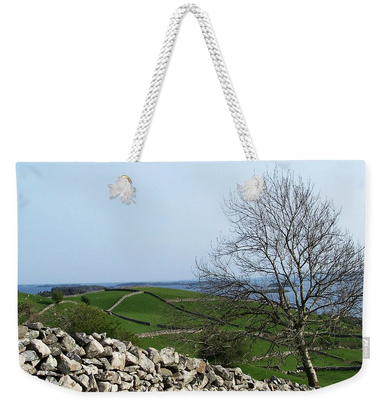 Irish Weekender Tote Bag featuring the photograph Patchwork Quilt Lough Corrib Maam Ireland by Teresa Mucha