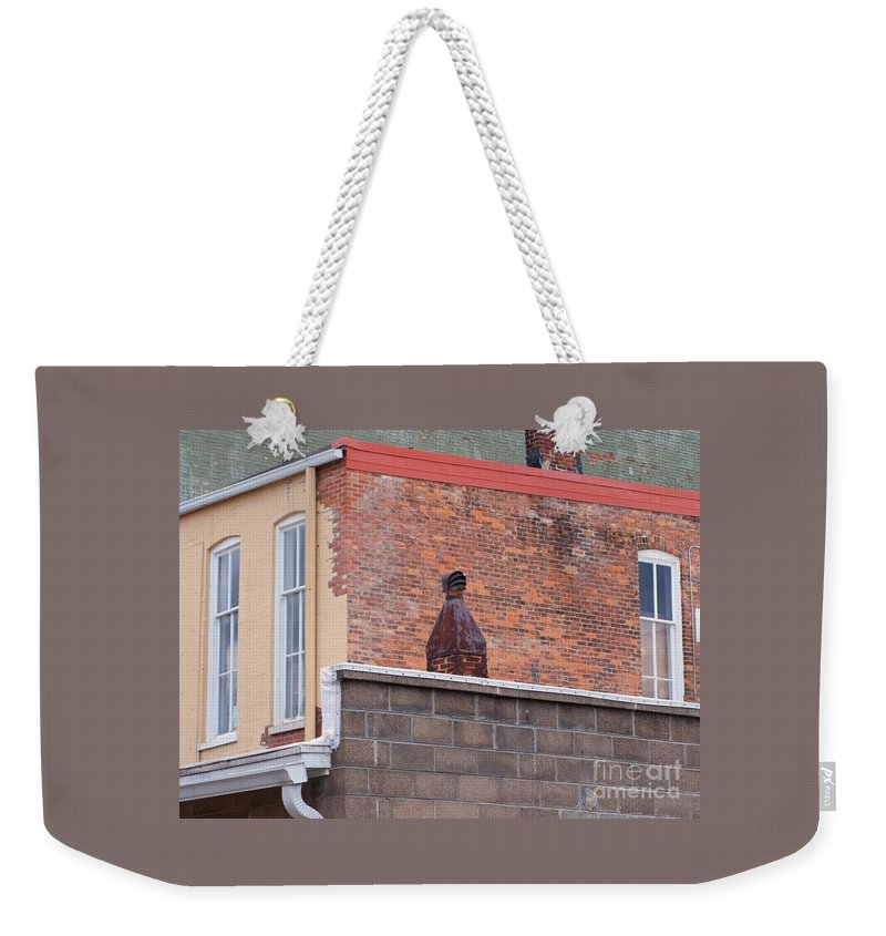 Vintage Weekender Tote Bag featuring the photograph Patchy by Ann Horn