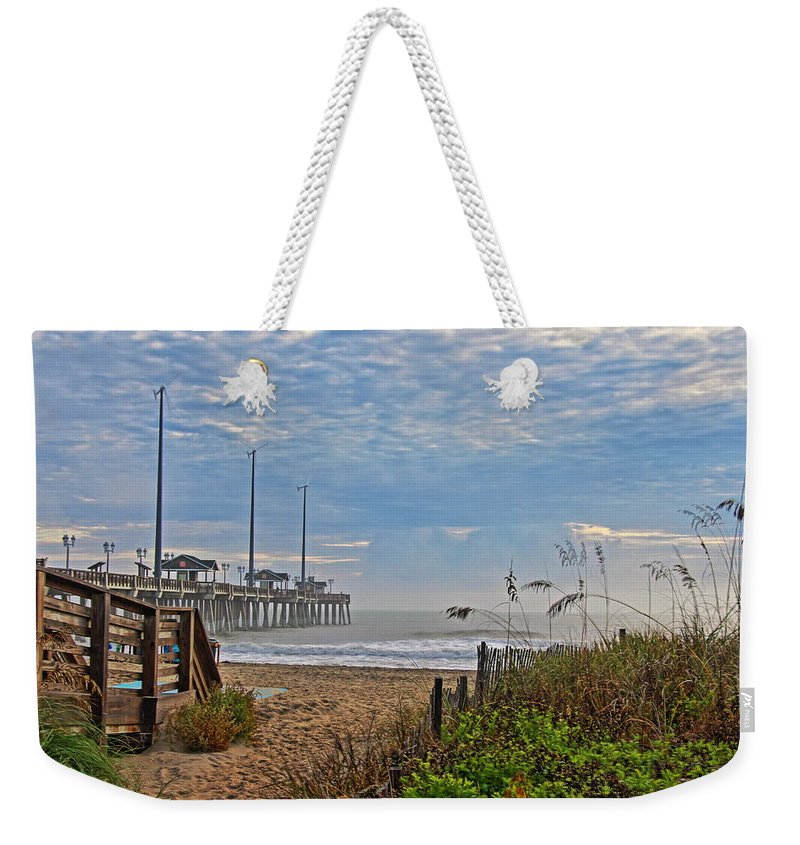 Jennette's Pier Weekender Tote Bag featuring the photograph Path Forward by Rand Wall