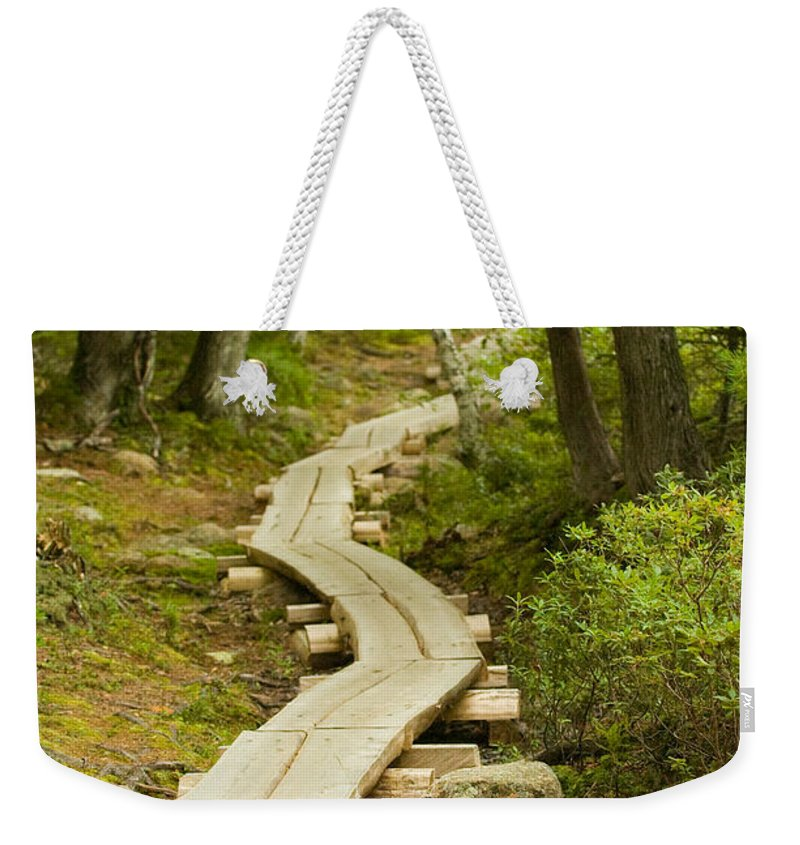 Forest Weekender Tote Bag featuring the photograph Path Into Unknown by Sebastian Musial