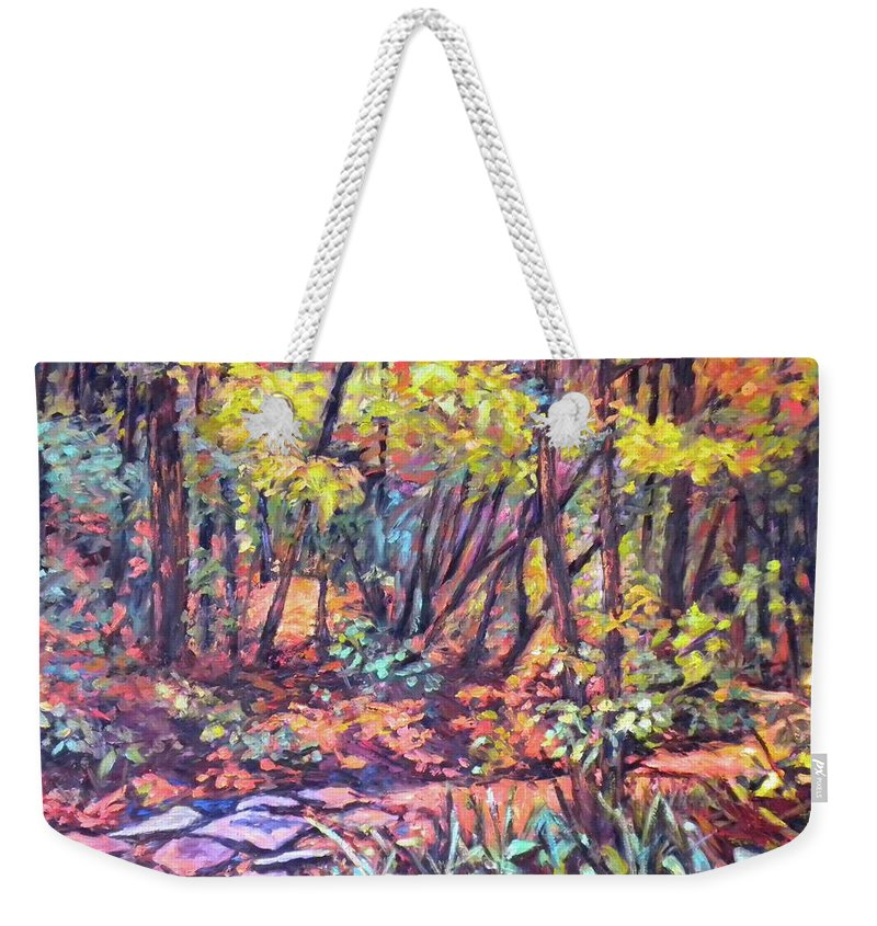Landscape Weekender Tote Bag featuring the painting Path Near Pandapas by Kendall Kessler