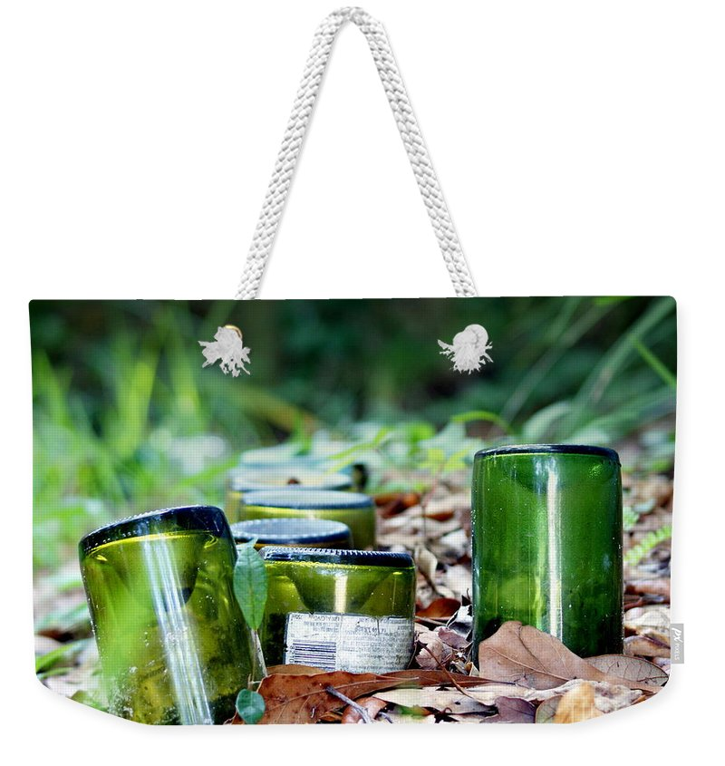 Bottles Weekender Tote Bag featuring the photograph Path To Intoxication by Jennifer Diaz