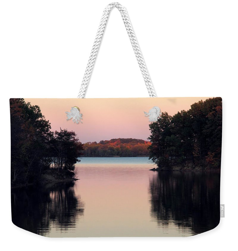 Fall Weekender Tote Bag featuring the photograph Path To Paradise by Angela Murdock