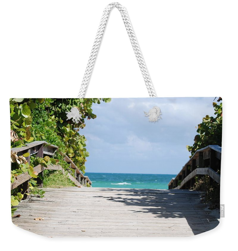 Sea Scape Weekender Tote Bag featuring the photograph Path To Paradise by Rob Hans