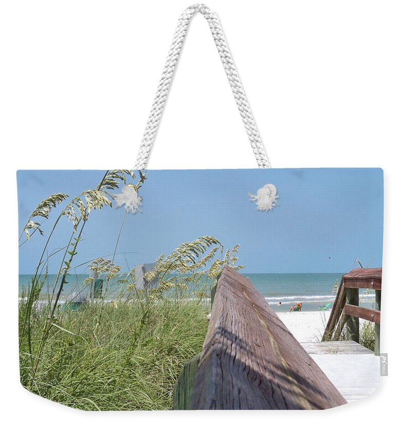 Florida Weekender Tote Bag featuring the photograph Path To Relaxation by Chris Andruskiewicz