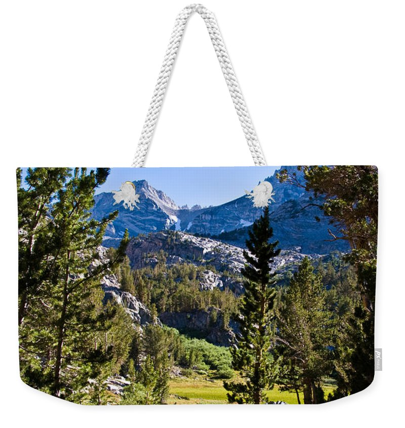 Scenic View Weekender Tote Bag featuring the photograph Path To Treasure Lakes by Chris Brannen