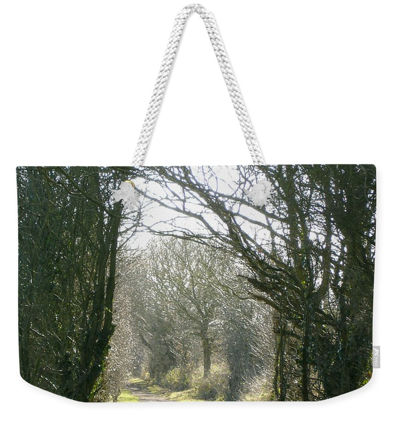 Path Weekender Tote Bag featuring the photograph Path To Wherever by Susan Baker