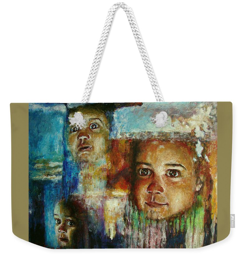Oil Weekender Tote Bag featuring the painting Paths Of Life by Ioulia Sotiriou