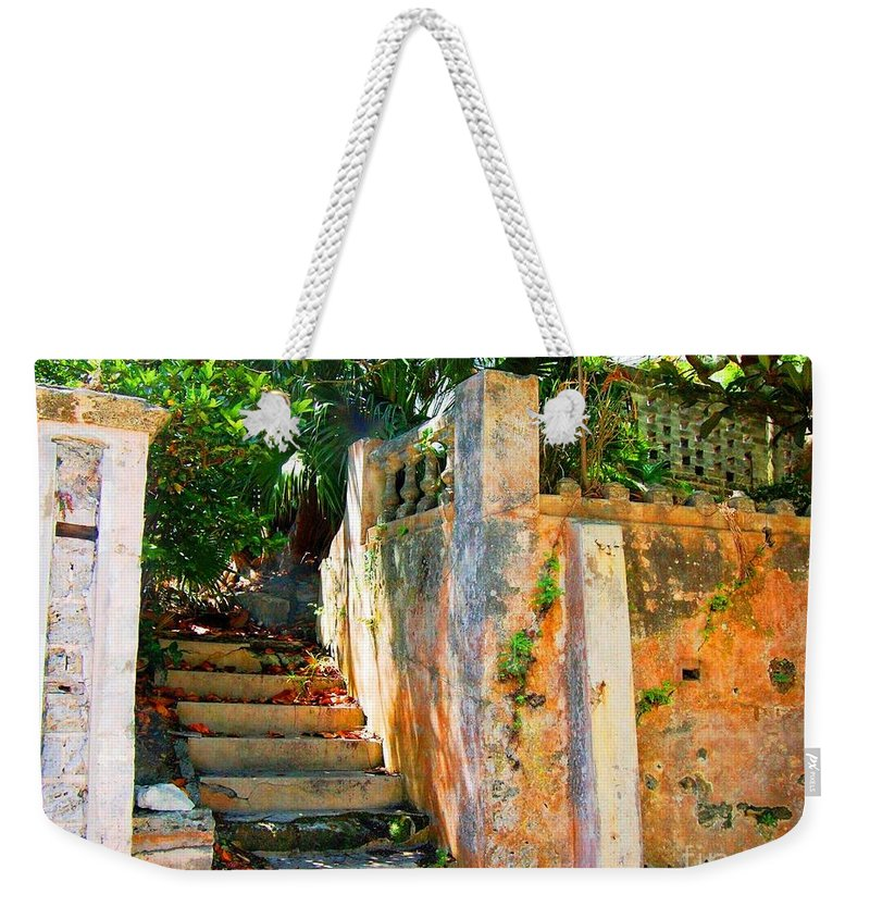 Steps Weekender Tote Bag featuring the photograph Pathway by Debbi Granruth