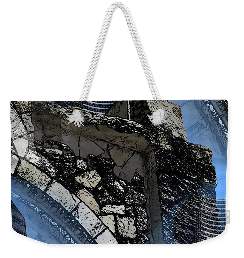 Pathway Weekender Tote Bag featuring the digital art Pathway To Present by Tim Allen