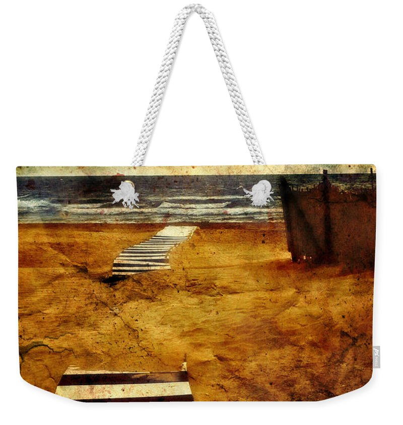 Path Weekender Tote Bag featuring the photograph Pathway To The Sea II by Silvia Ganora