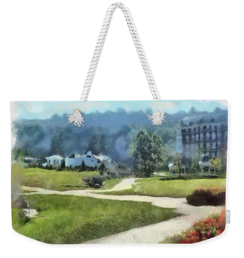 Homestead Weekender Tote Bag featuring the painting Pathways by Paulette B Wright