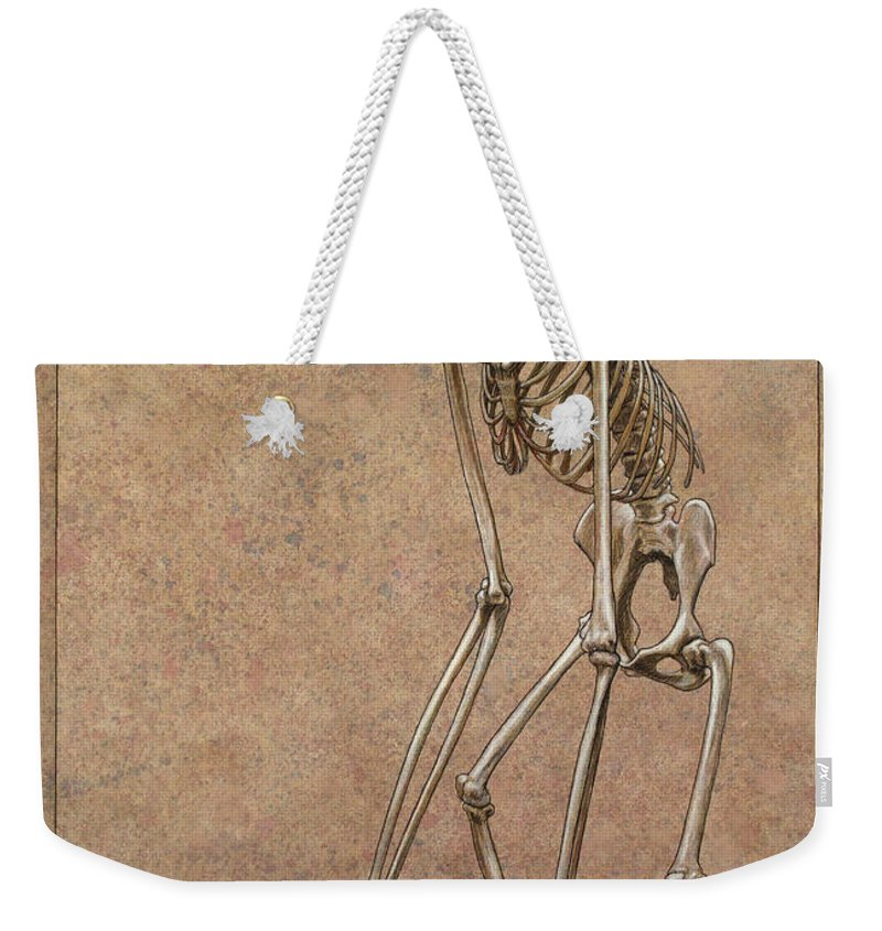 Patience Weekender Tote Bag featuring the drawing Patient by James W Johnson