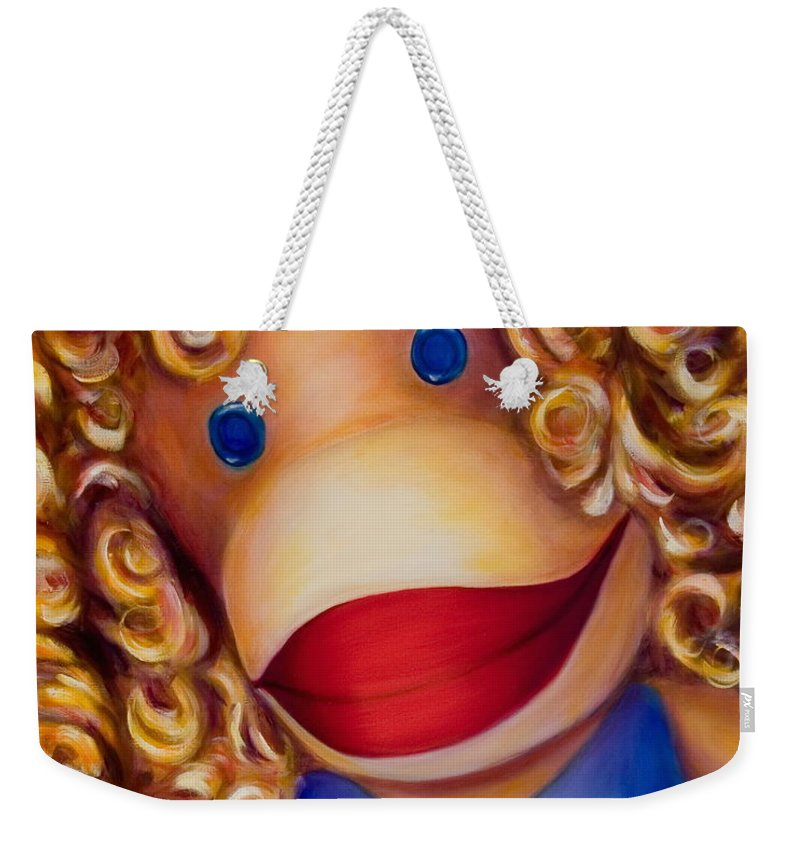 Children Weekender Tote Bag featuring the painting Patricia by Shannon Grissom