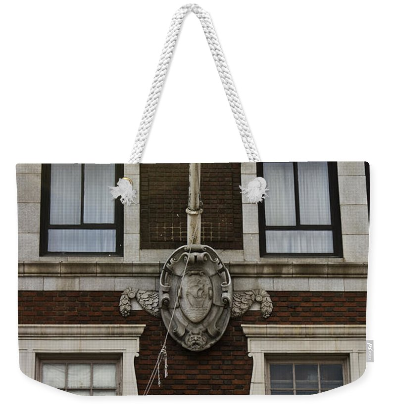 Roanoke Weekender Tote Bag featuring the photograph Patrick Henry Hotel Roanoke Virginia by Teresa Mucha
