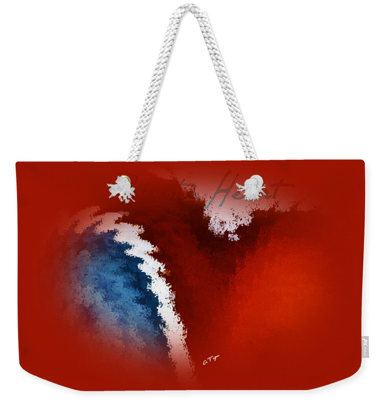 Patriotic Heart Weekender Tote Bag featuring the photograph Patriotic Heart by Anita Faye