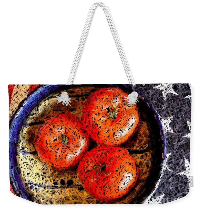 Digital Art Weekender Tote Bag featuring the mixed media Patriotic Still by Ron Bissett