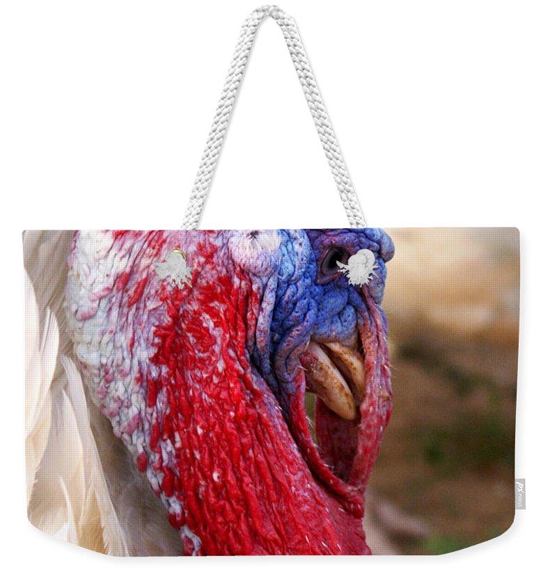 Patriotic Weekender Tote Bag featuring the photograph Patriotic Turkey by Marilyn Hunt