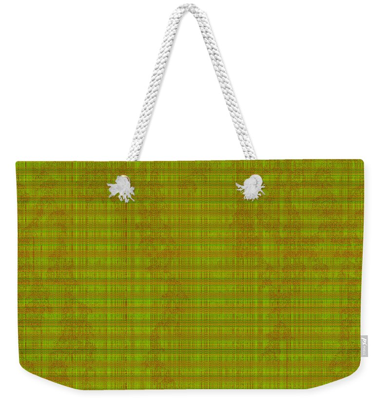 Patterns Weekender Tote Bag featuring the digital art Pattern 11 - Sequencer by Richard Ortolano