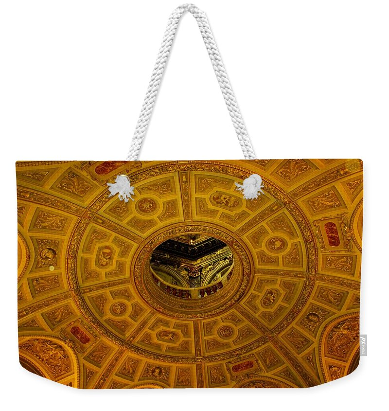 Ceiling Weekender Tote Bag featuring the photograph Pattern by Ian MacDonald