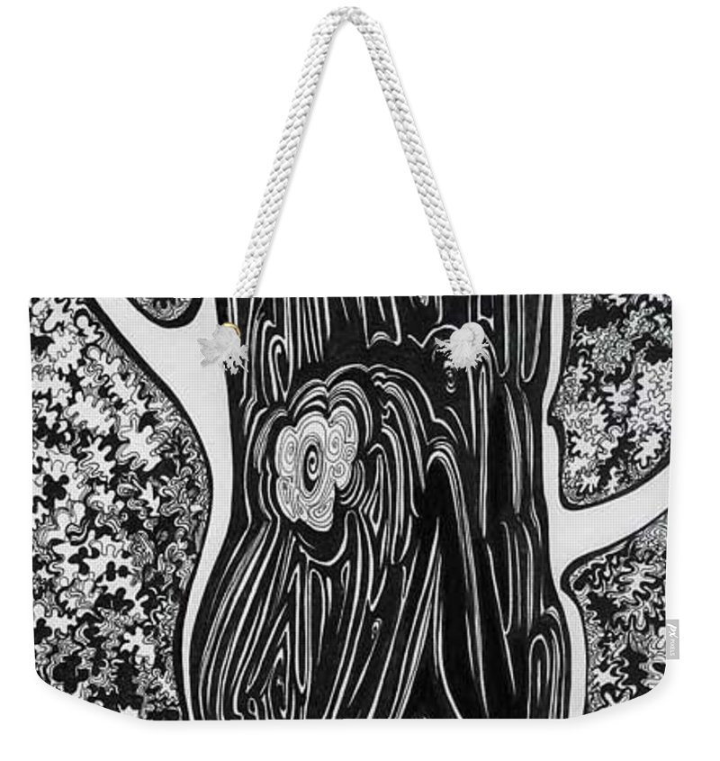 Trees Weekender Tote Bag featuring the drawing Patterns Of Autumn by Anna Duyunova