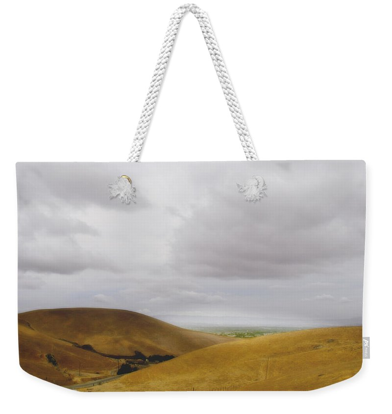 Landscape Weekender Tote Bag featuring the photograph Patterson Pass Road by Karen W Meyer