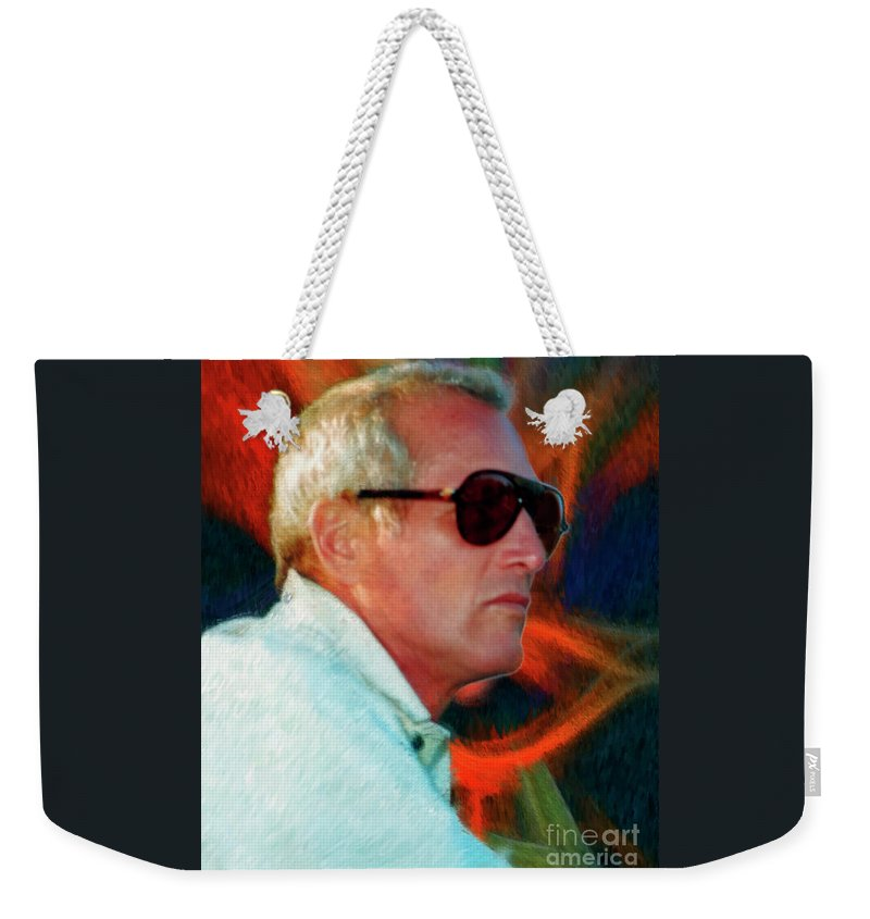 Weekender Tote Bag featuring the photograph Paul Newman by Blake Richards