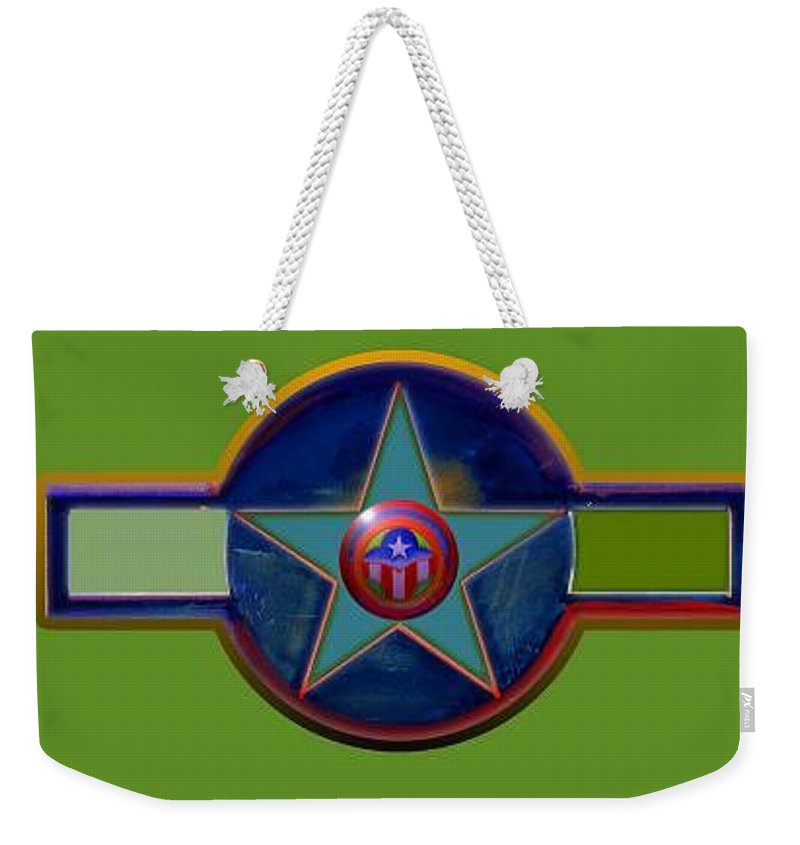 Usaaf Insignia Weekender Tote Bag featuring the digital art Pax Americana Decal by Charles Stuart