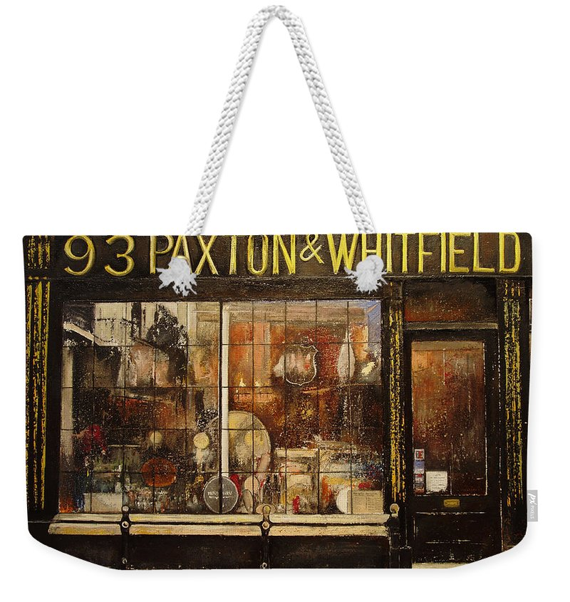 Paxton Weekender Tote Bag featuring the painting Paxton Whitfield .london by Tomas Castano