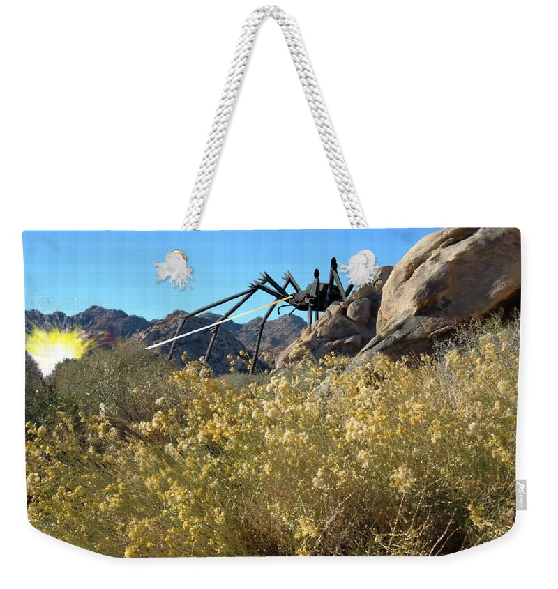Spider Weekender Tote Bag featuring the digital art Payback by Snake Jagger
