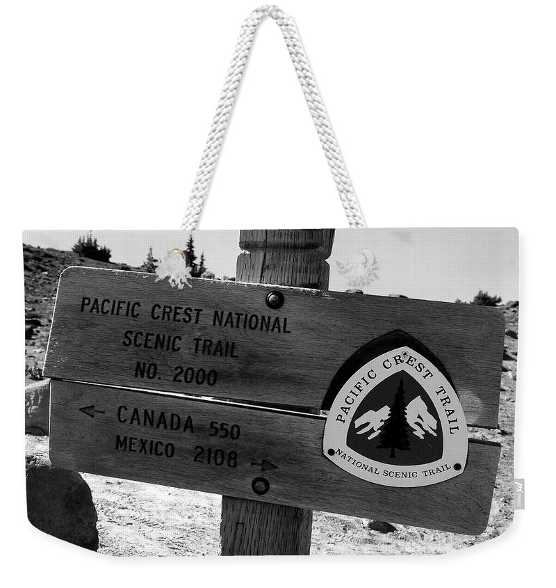 Fine Art Photography Weekender Tote Bag featuring the photograph Pct Scenic Trail by David Lee Thompson