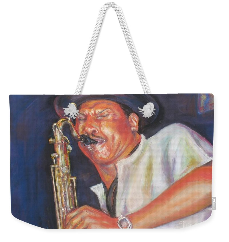Portrait Weekender Tote Bag featuring the painting Pdaddyo by Beverly Boulet