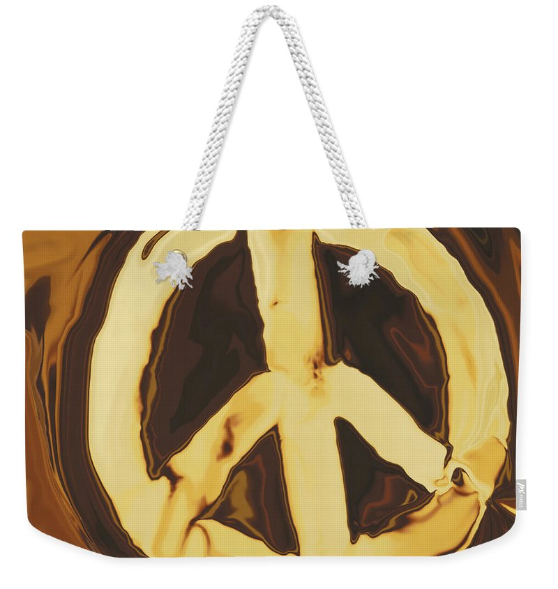 Freedom Weekender Tote Bag featuring the digital art Peace 2 by Rabi Khan