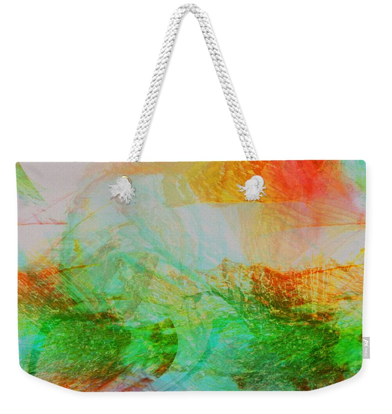 Abstract Art Weekender Tote Bag featuring the digital art Peace And Light by Linda Sannuti
