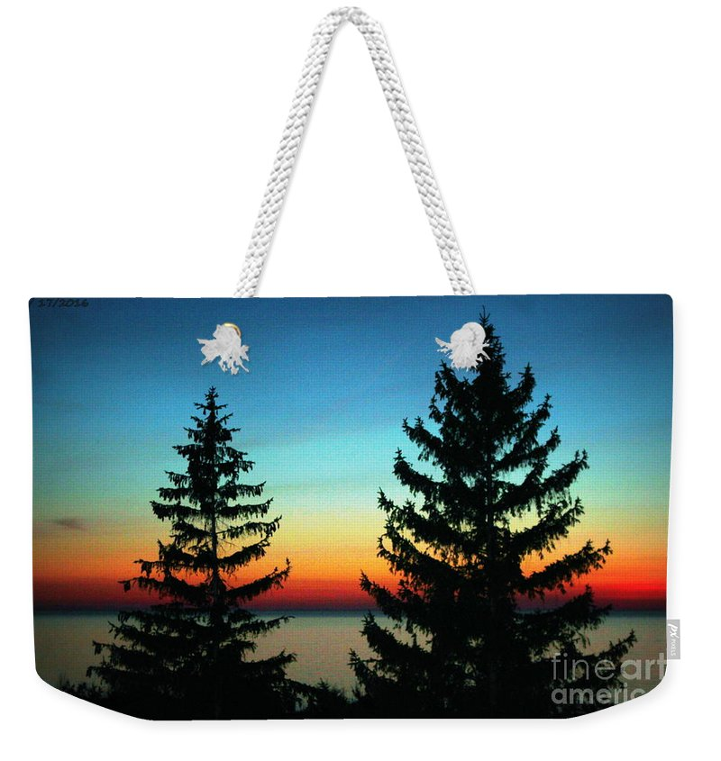 Grand Bend Weekender Tote Bag featuring the photograph Peace And Quiet 2 by John Scatcherd