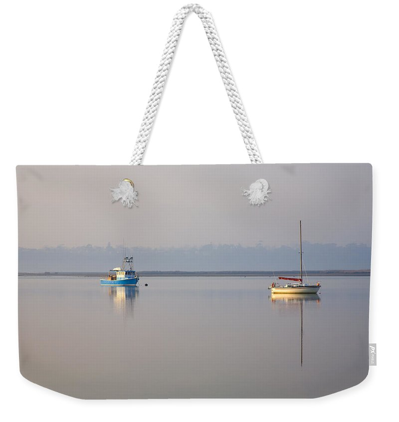Tasmania Weekender Tote Bag featuring the photograph Peace At Anchor by Mike Dawson