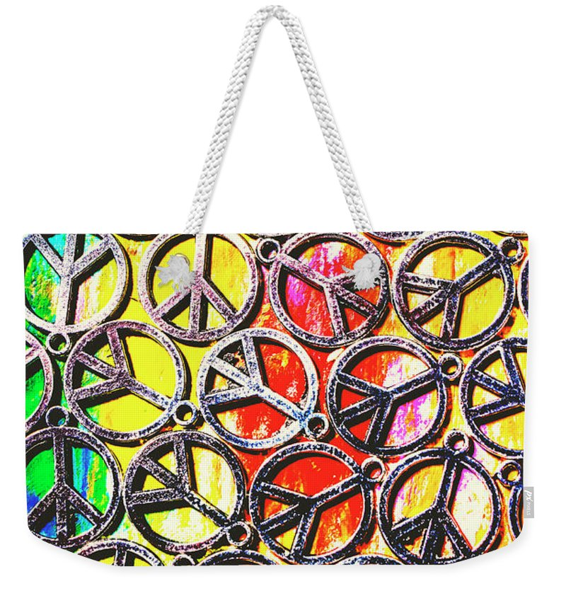 Peace Weekender Tote Bag featuring the photograph Peace In All Colours by Jorgo Photography - Wall Art Gallery