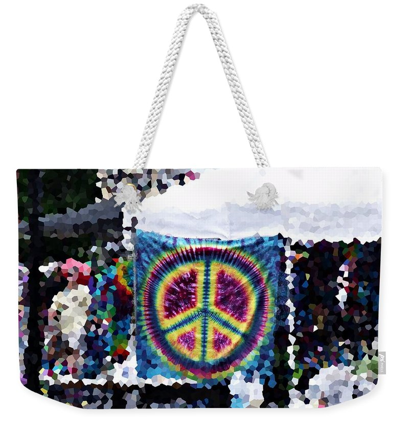 Arts Festival Weekender Tote Bag featuring the photograph Peace In The Streets by Steve Cochran